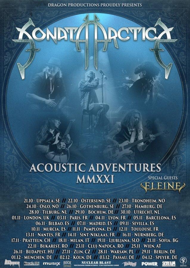 SONATA ARCTICA Announces First Acoustic Album, 'Acoustic Adventures - Volume One'